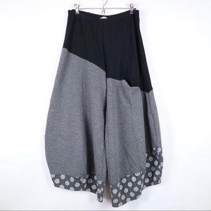 Alembika pants polka dot mixed materials